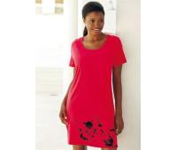 Женская ночная рубашка VIVANCE 48/50 красно-серый (12153701634404)