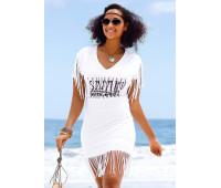 Женская пляжная рубашка BEACH TIME 52/54 белый (12164200010444)