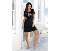 Женская ночная рубашка VIVANCE 48/50 черный (12180700289404)