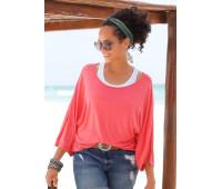 Женская рубашка BEACH TIME 48/50 кораллово-белый (12225500520404)