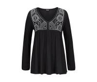 Женская пляжная футболка Lascana 48/50 черный (12235200289404)