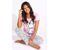 Женская пижама Peanuts LM 48/50 розово-серый (12522200966404)