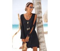 Женская пляжная рубашка Lascana 48/50 черный (12740900289404)